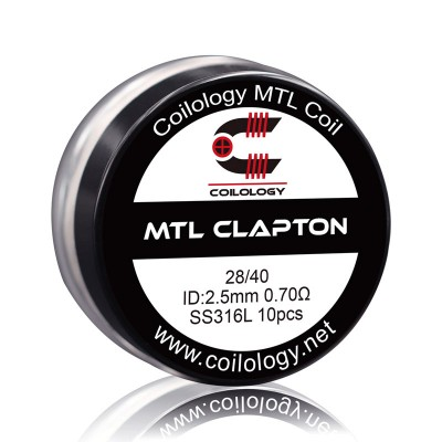 Coilology Coil Mtl Clapton SS316L 28/40 Pack10