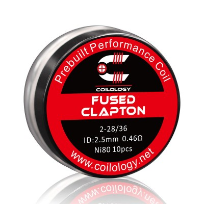 Coilology Coil Fused Clapton Ni80 2-28/36 Pack10