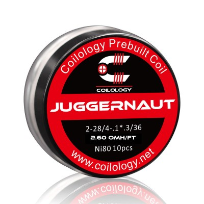 Coilology Coil Juggernaut Ni80 2-28/36 Pack10