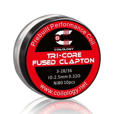 Coilology Coil Tricore Fused Clapton Ni80 28/36 Pack10