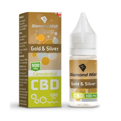 DIAMOND MIST CBD GOLD SILVER 500MG