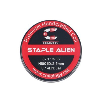Coilology Coil Staple Alien Ni80 Pack2